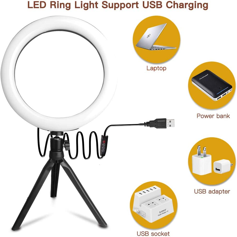 RGB Selfie Ring Light Gadom 10 Upgraded Ring Light with Tripod Stand /& Phone Holder 2800-6500K 29 RGB Colors /& 17 Brightness Adjustable LED Ring Light for Make Up Live Stream Photography YouTube