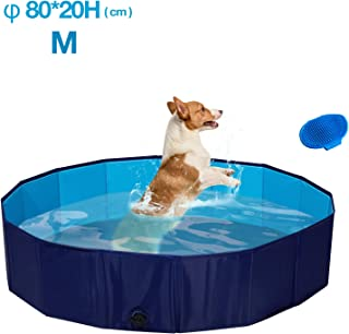 Seekavan Piscina Plegable Multifuncional para Perros y Gatos (Diametro 80cm Altezza 20cm)