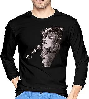 Mens Fashion Divinity Stevie Nicks Long Sleeve T-Shirts Black