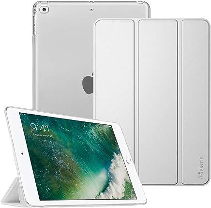 """Fintie Hülle für iPad 9.7 Zoll 2018/2017 - Ultradünn Schutzhülle mit transparenter Rückseite Abdeckung Cover mit Auto Schlaf/Wach für 9.7"""" iPad 6. Generation / 5. Generation, Silber"""