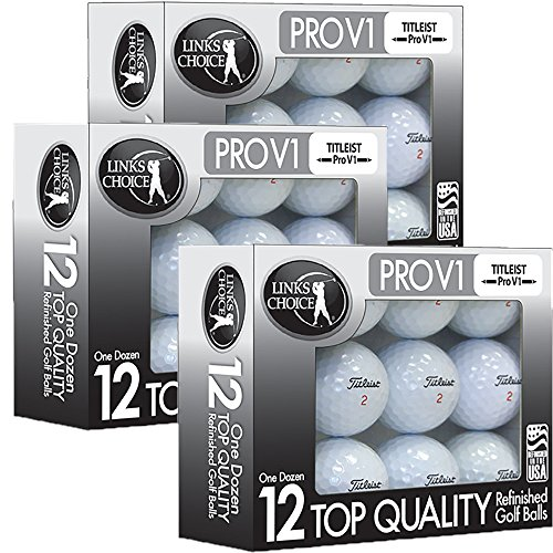Titleist 36 ProV1 AAAAA Mint Refinished Used Golf Balls Black Foil Pack