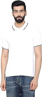 Bongio Men's Polo - Neck Half Sleeve Casual T-Shirt - White
