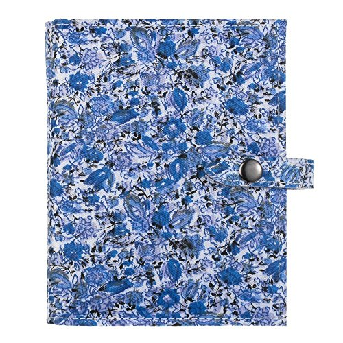 The Little Book of Earrings - Large Size - Blue Floral, holds 48 pairs