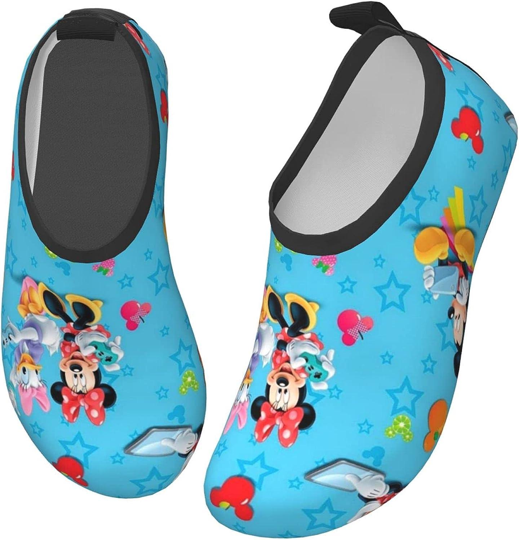 Mickey Mouse Kids Water Sports Shoes Lightweight Barefoot Non-Slip Aqua Socks Beach Swimming Surf Walking for Boys Girls
