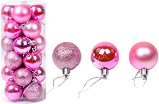 Fine Christmas Ball Ornaments Shatterproof Christmas Decorations Tree Balls Small for Holiday Wedding Party Decoration, Tree Ornaments Hooks