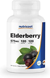 Nutricost Elderberry Capsules 575mg (120 Capsules) - Veggie Capsules, Gluten Free and Non-GMO Black Elderberry Supplement