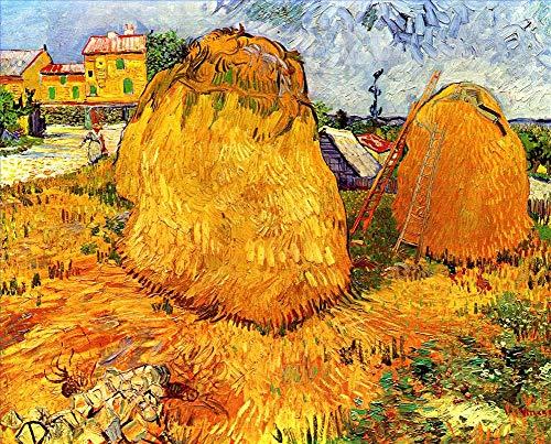 Desconocido Pintura al óleo a Mano de Pintores universitarios - 26 Van Gogh Pinturas - Haystacks in Provence Vincent Van Gogh - Pintado de Lienzo -tamaño04