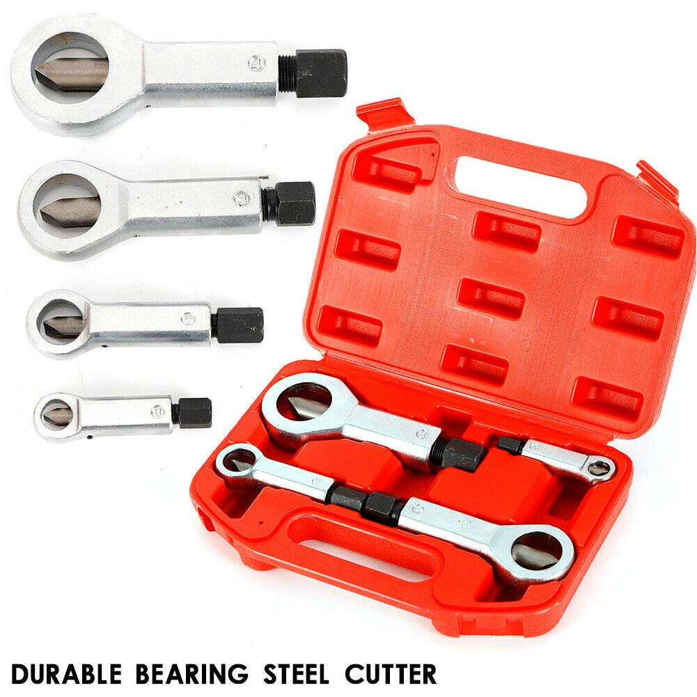 Easily Remove Stripped or Damaged Screws Extractor /& Bolt Extractor Set Tungsten Steel Plated Titanium Womdee Screw Extractor