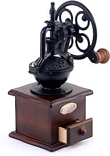 Defancy C50 Vintage Style Grinder Spice Grinding Hand-Crank Roller Drive Grain Burr Mill Coffee Machine, 4.94.910.2 inches, Brown