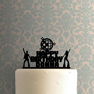 Custom Disco Acrylic Cake Topper For Wedding Birthday Party Graduation Decor