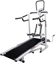 Lifeline 4 in 1 deluxe manual treadmill with twister, Stepper & 3 Level inclination.