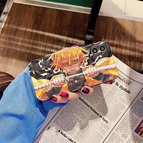 HNZZ Tmrtcgy Estuche de cuña de Demonio Lindo para iPhone 11 12 Pro MAX 7 8 Plus X XR XS MAX Máx Funda Teléfono Japón Anime Kimetsu No Yaiba Soft Cover Coque (Color : 2, Size : IphoneXS MAX)