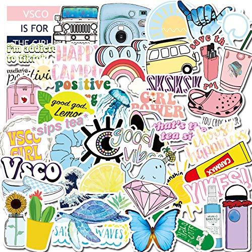 YRSM Pequeñas pegatinas frescas de dibujos animados taza de agua, maleta, teléfono móvil, tableta, pegatinas de graffiti impermeables 50pcs
