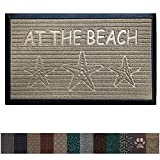 Gorilla Grip Original Durable All-Natural Rubber Door Mat, Heavy Duty Doormat for Indoor Outdoor, Waterproof, Easy Clean, Low-Profile Rug Mats for Entry, Garage, Patio, High Traffic Areas