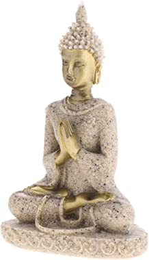 Baoblaze Buddism Buddha Maitreya Fengshui Statue Sculpture Handmade Figurine Home Desktop Office Decor - Sandstone 6.55.59cm/