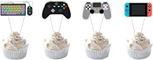 Party Hive 24pc Video Game Cupcake Toppers for Kids Gaming Birthday Party Event Decor