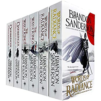 The Stormlight Archive Series 6 Books Collection Set by Brandon Sanderson  Words of Radiance Part 1 & 2 The Way of Kings Part 1 & 2 & Oathbringer Part 1 & 2