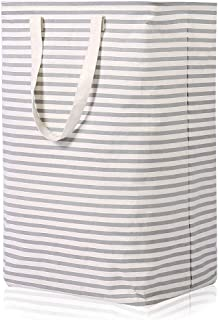 Vieshful 72L Freestanding Laundry Hamper, Large Laundry Basket with Long Handles to Storage Clothes Toys, Foldable Clothes Basket, Grey