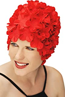 SYNC Original Flower Swim Cap for Women - Vintage Retro Floral Swimming