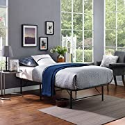 Modway Horizon Stainless Steel Bed Platform, Folding Portable Frame for Mattresses, Replaces Boxspring. Variety of Colors. Sizes: Twin, Full, or Queen