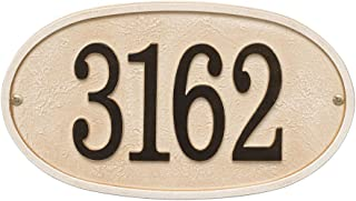 Whitehall Personalized Cast Metal Stonework House Number Custom Address Plaque Sign - Oval