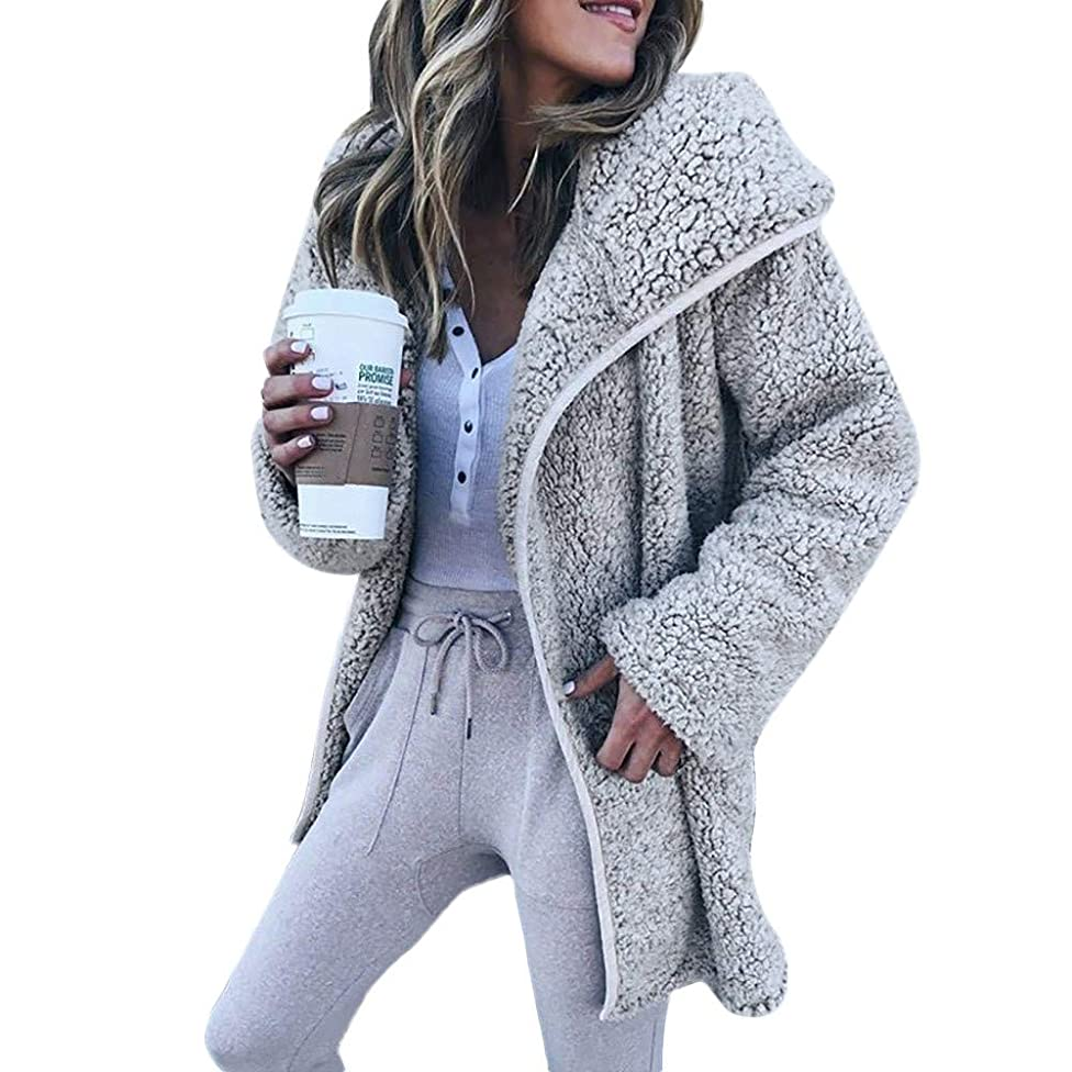 Coat,BeautyVan Women Winter Casual Long Sleeve Hoodies Cardigan Tops Sweater Jacket Coat
