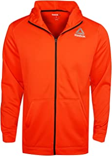 Reebok Mens Workout Ready Warm Poly Fleece Full Zip