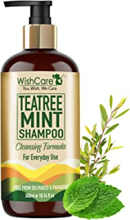 WishCare® Tea Tree Mint Shampoo - Cleansing Formula - Free from Mineral Oils, Sulphates & Parabens - For All Hair Types - ...