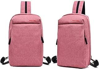 ZCLADLY The New Men's Business Casual Shoulder Bag Computer Travel Bag Students Backpack Schoolbag Tide (Color : Pink)