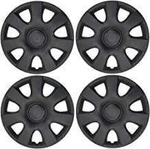 BDK K94B Matte Black Hubcaps Wheel Covers (15 inch) – Four (4) Pieces Corrosion-Free & Sturdy – Full Heat & Impact Resistant Grade – OEM Replacement