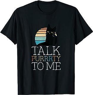 Drôle Chat Chaton Amant Parler Purrrty À Moi T-Shirt