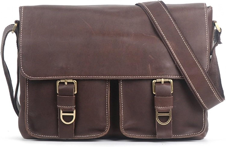 QARYYQ QARYYQ QARYYQ Umhängetasche Herren Messenger Bag Handgefertigte Tasche Querschnitt Casual Mode Gezeiten Tasche Business Aktentasche, Dunkelbraun, 33x7x24cm Aktentasche für Unternehmen B07PZC2YV5 b8738e