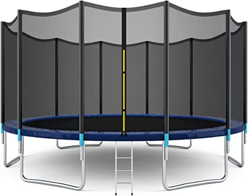 lowest Giantex 8FT 10Ft 12Ft 14Ft 15Ft 16Ft Trampoline with Safety Enclosure Net, Spring Pad, online Ladder, Combo lowest Bounce Jump Trampoline, Outdoor Trampoline for Kids, Adults online
