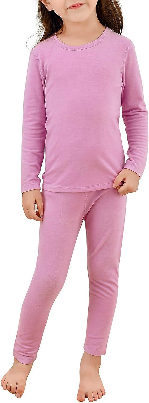 Girls Underwear Kids Thermal Underwears Toddler Winter Base Layer Sets Pajamas Sleepwear