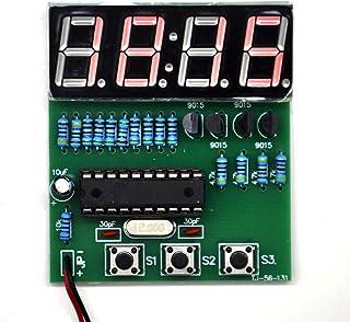 Gikfun C51 4 Bits Digital LED Electronic Soldering Clock Kits Electronic Practice Learning Board DIY Kit for Arduino EK1939