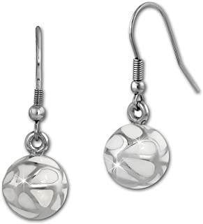 with lots off black Swarovski elements original Amello ESOS04S Amello Stainless steel hoop earring