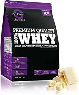 Pure Product Australia Whey Protein Isolate and Concentrate, White Chocolate, White Chocolate 3.00 kilograms