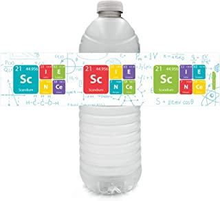 Science Birthday Water Bottle Labels - 24 Stickers