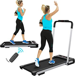 FYC 2 in 1 Folding Treadmill for Home Under Desk Electric Treadmill Workout Foldable Running Machine Portable Compact Treadmill for Running and Walking Exercise Home Gym, Installation-Free (JK31-8)