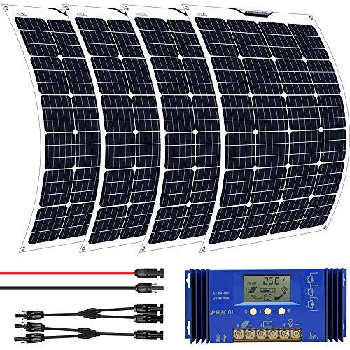 ECO-WORTHY Kit de panneau solaire souple 130W + contrôleur 20A