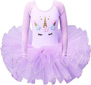 BAOHULU Leotards for Girls Ballet Dance Tutu Skirted Princess Dress 3-8 Years