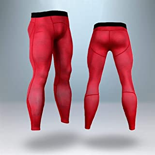 Jinqiuyuan Thermal Underwear Sets Men Compression Stretch Men's Thermo Underwear Male Warm Long Johns for Men (Color : Pink, Size : M)
