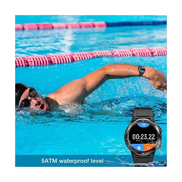 UMIDIGI Uwatch GT Smartwatch Hombre Reloj Inteligente 5ATM Impermeable con Cronómetro Pulsera Actividad de Fitness con… 4