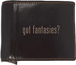 got fantasies? - Soft Cowhide Genuine Engraved Bifold Leather Wallet