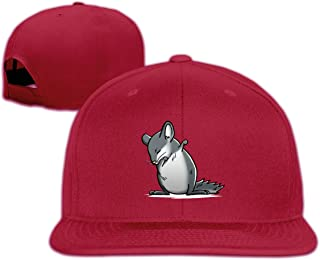 U7eer Cute Dabbing Chinchilla Adjustable Dad Hats Baseball Caps Trucker Hats