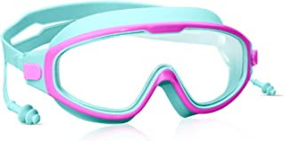 Lutol Goggles Kids Swimming,Wide Vision Goggles with Ear...