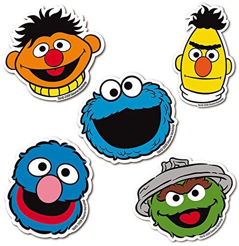 Logoshirt Juego de imanes de Nevera Barrio Sésamo - Juego de 5 imanes de refrigerador Sesame Street - Epi, Blas, Óscar el Gruñón, Monstruo de Las Galletas y Coco - Diseño Original con Licencia