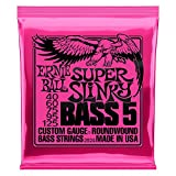 Ernie Ball 5-String Super Slinky Nickel Wound Bass Set, .040 - .125