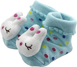 TrifyCore, Aislado calcetines 1 par de dibujos animados 3D Corto del calcetín del deslizador lindo conejo de zapatos Botín para el bebé recién nacido niño de Kid