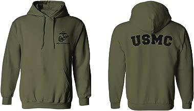 usmc green pt hoodie
